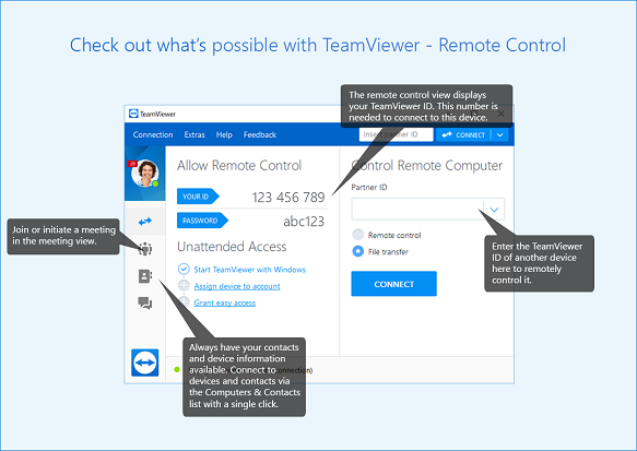 monitor another computer screen with teamviewer