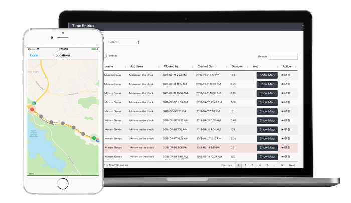 timeero employee location tracking