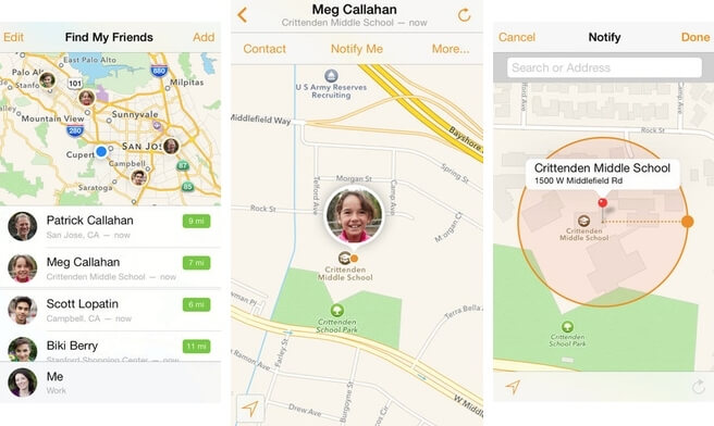 track iphone using find my friends app