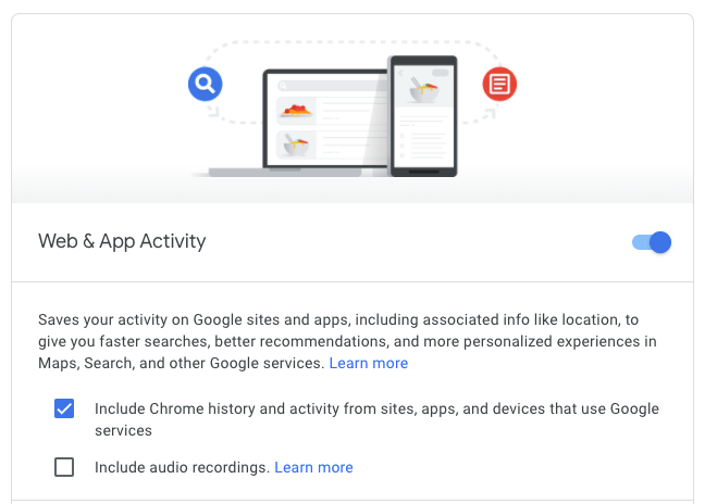turn off google voice history