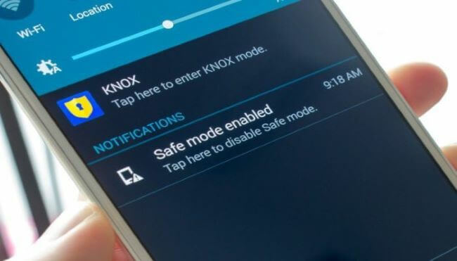 turn off safe mode from notification panel