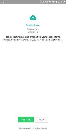 whatsapp chat backup