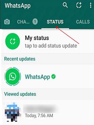 how to view status on whatsapp