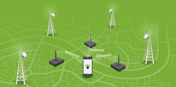 network provide use signal tower to locate an iphone